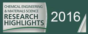 "Graphic MSU green and gray ""Chemical Engineering & Materials Science Research Highlights 
