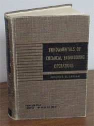 "A photo of Maurice G. Larian's textbook, ""Fundamentals of Chemical Engineering Unit Operations."""