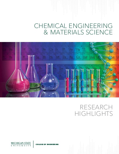 Cover image of the Chemical Engineering & Materials Science Research Highlights 2016 publication.