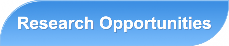 "Light blue graphic with the words ""Research Opportunities"""