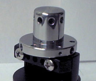 A photo of a Schottky field emitter assembly.