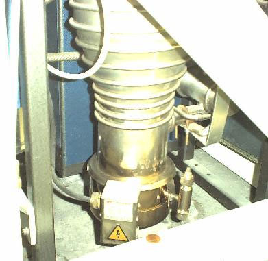 A photo of the SEM diffusion pump
