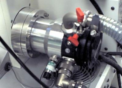 A photo of the SEM turbo pump